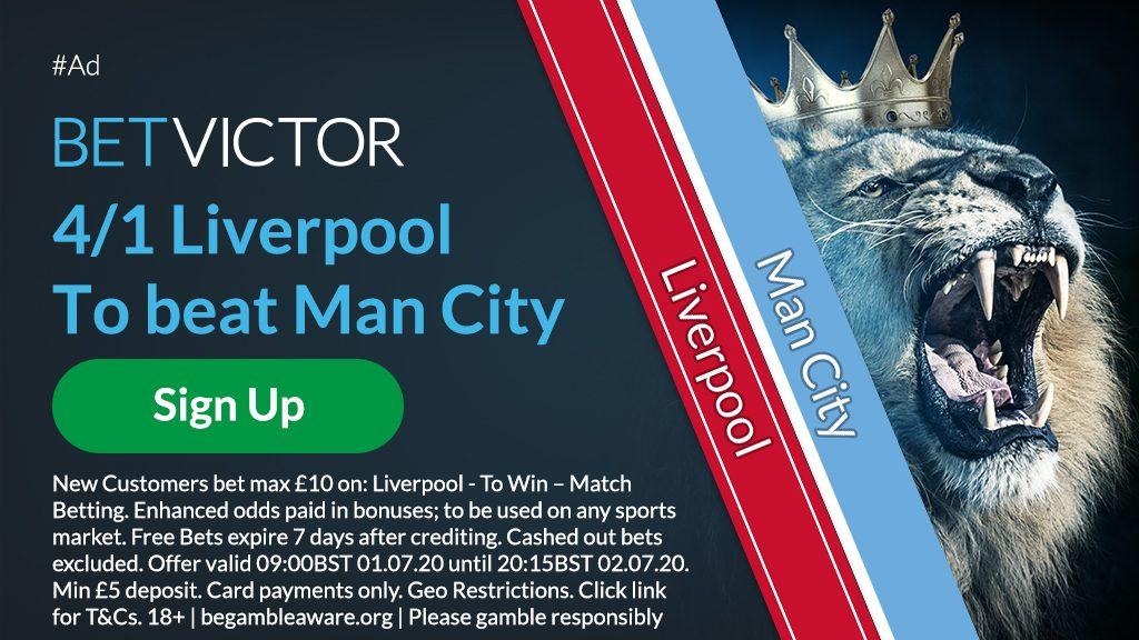 Liverpool v Man City EPL Betting Offer