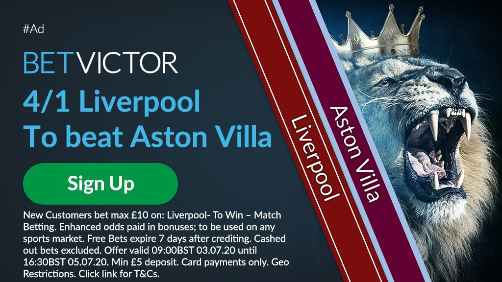 Liverpool Premier League Match Betting Offer