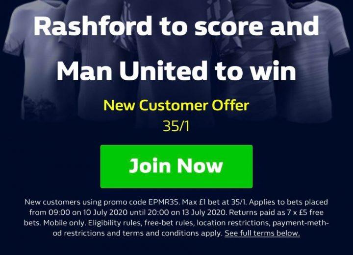 Man Utd Premier League Betting Offer