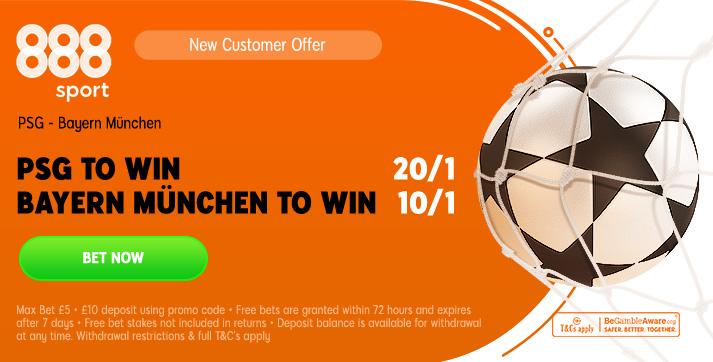 PSG v Bayern Munchen CL Final Betting Offer
