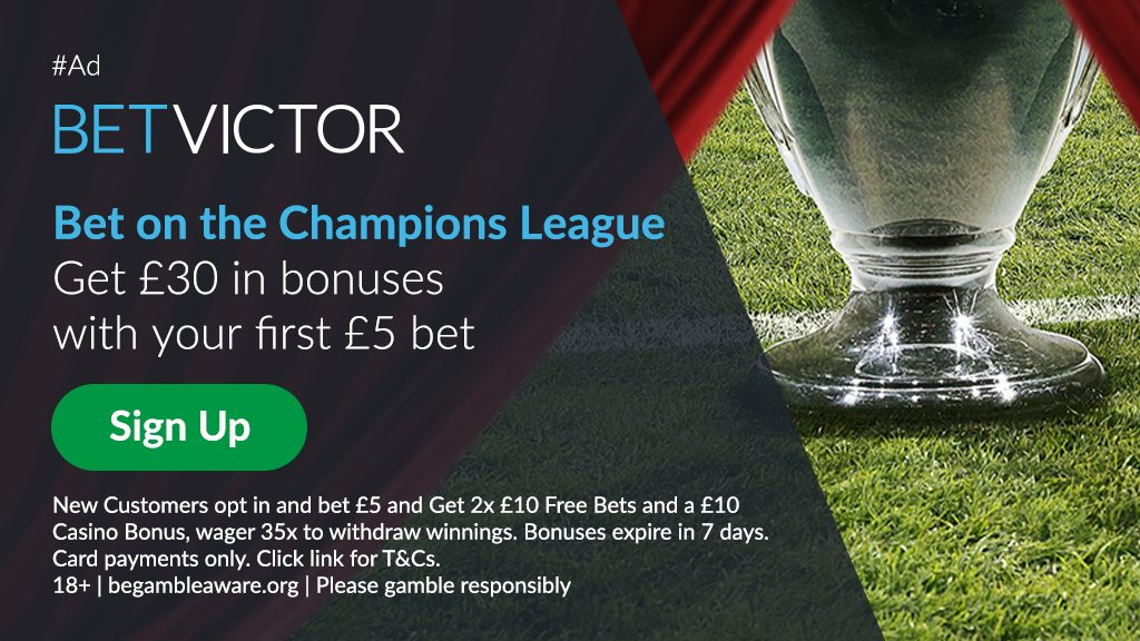 BetVictor Champions League Bonus Offer
