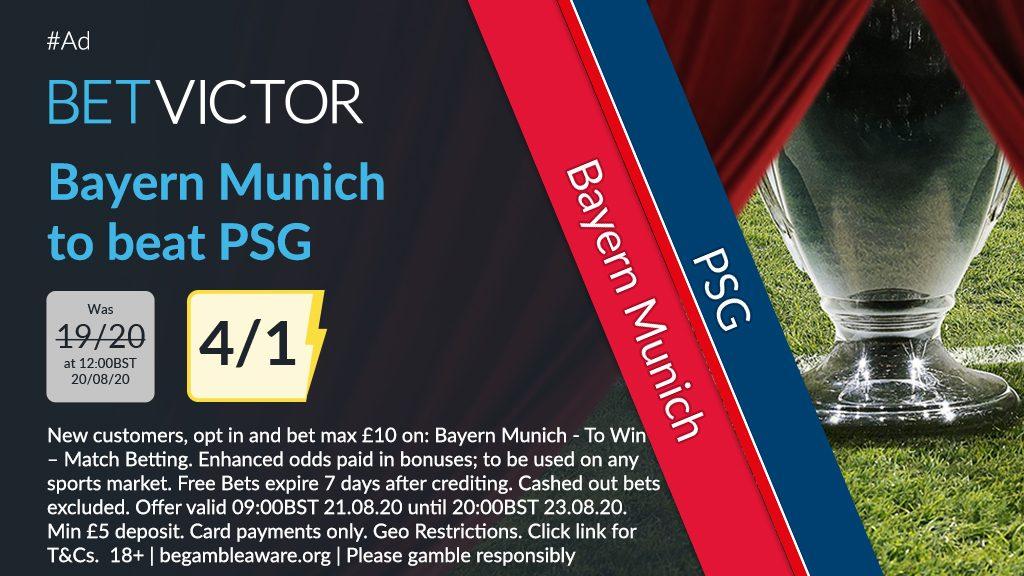 Bayern Munich v PSG Champions League Final Betting Offer