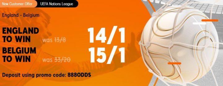 England v Belgium Nations League Betting Offer
