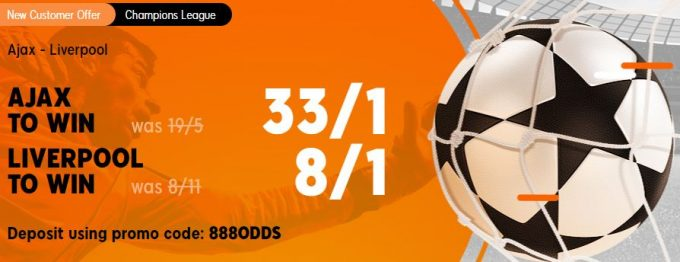 Ajax v Liverpool Champions League Betting Offer