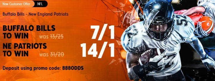Buffalo Bills v NE Patriots NFL Betting Offer
