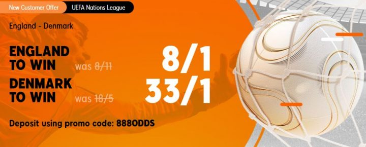 England v Denmark Nations League Betting Offer