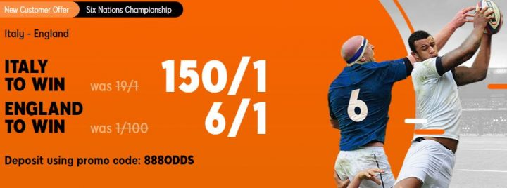 Italy v England Six Nations Betting Offer