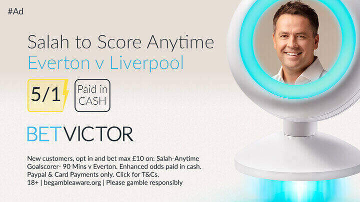 Everton v Liverpool Salah Premier League Betting Offer