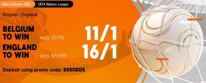 Belgium v England Nations League Betting Offer