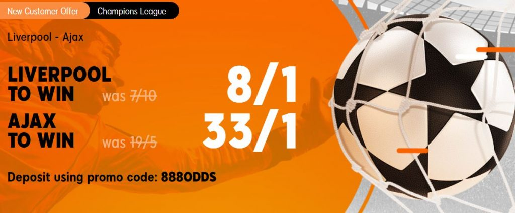 Liverpool v Ajax Champions League Betting Offer