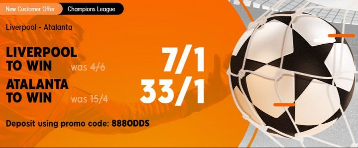 Liverpool v Atalanta Champions League Betting Offer