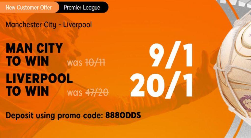 Man City v Liverpool Premier League Betting Offer
