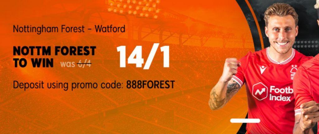 Nottingham Forest Championship Betting Offer