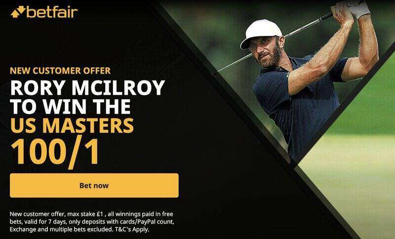 Grab 100/1 for Rory McIlroy to win the US Masters 2020