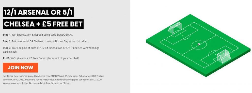 Arsenal v Chelsea EPL Betting Offer