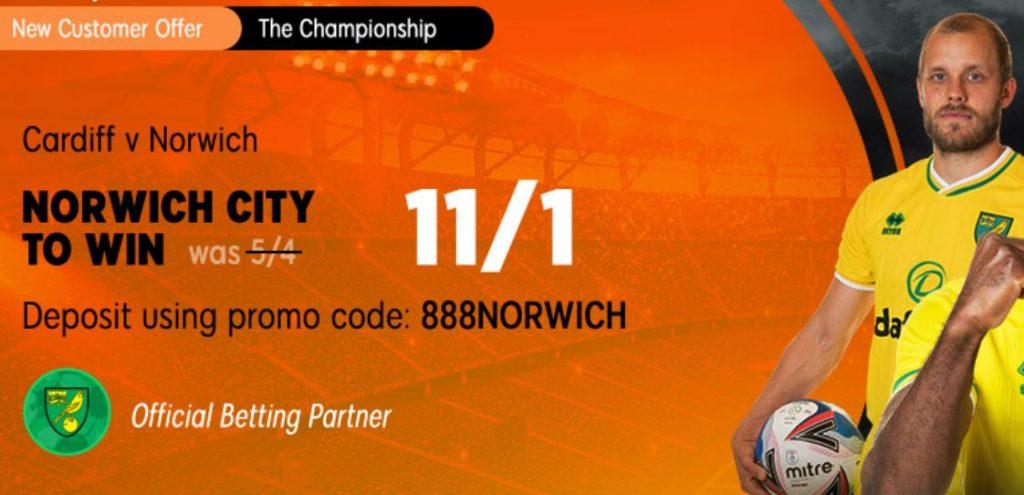 Norwich City Championship Betting Offer