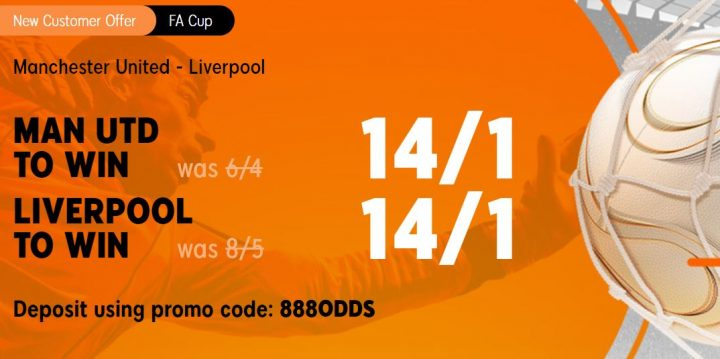 Man Utd v Liverpool FA Cup Betting Offer