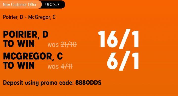 Poirier v McGregor UFC257 Betting Offer