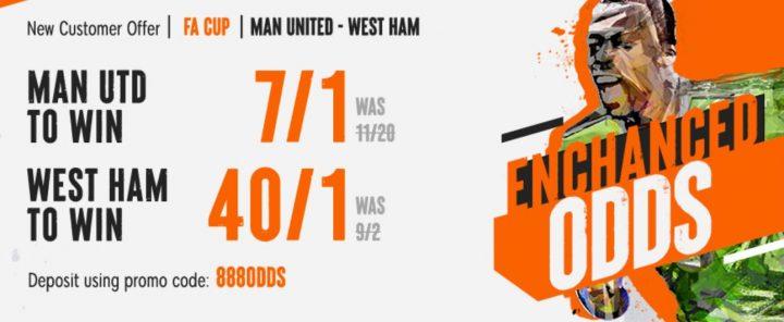 Man Utd v West Ham FA Cup Betting Offer