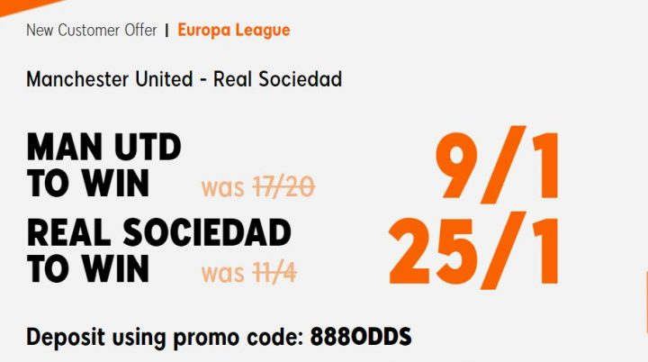 Man Utd v Real Sociedad Europa League Betting