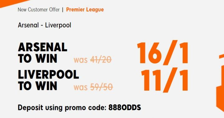 Arsenal v Liverpool Premier League Betting Offer