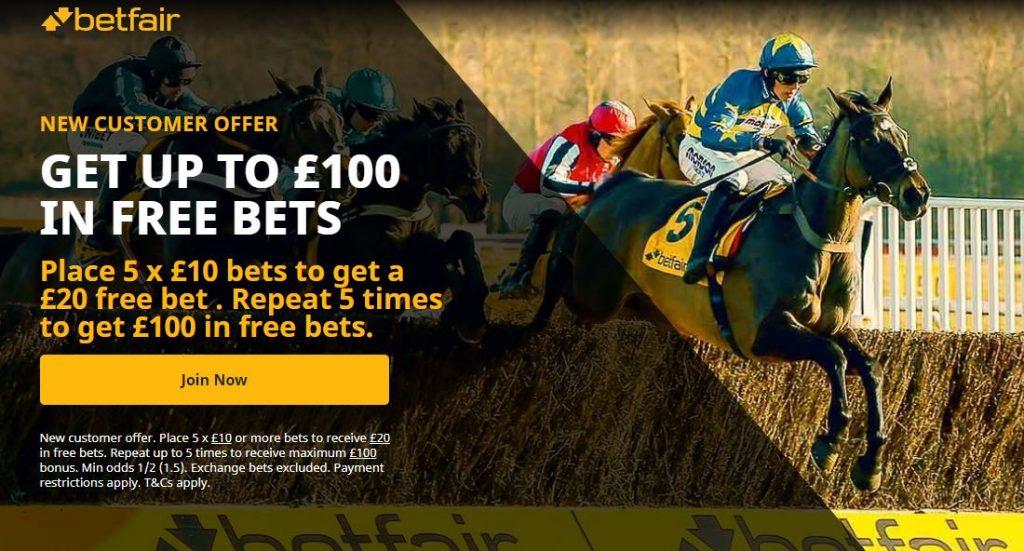 Betfair Racing Free Bet Offer