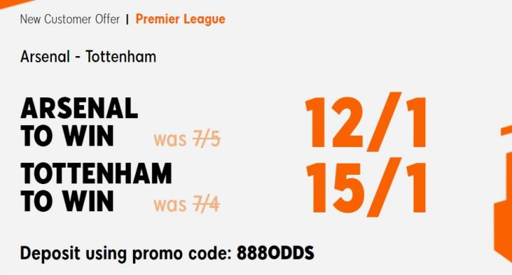 Arsenal v Spurs Premier League Betting
