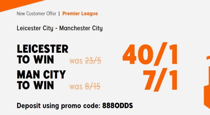 Leicester v Man City Premier League Betting