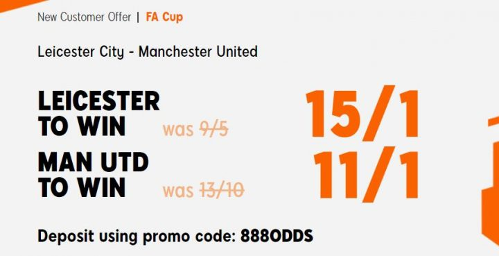 Leicester v Man Utd FA Cup Betting