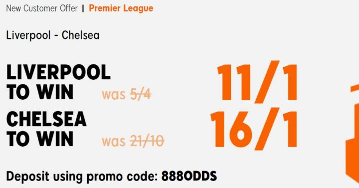 Liverpool v Chelsea Premier League Betting Offer
