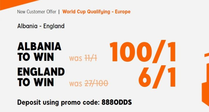 Albania v England World Cup Qualifying Offer