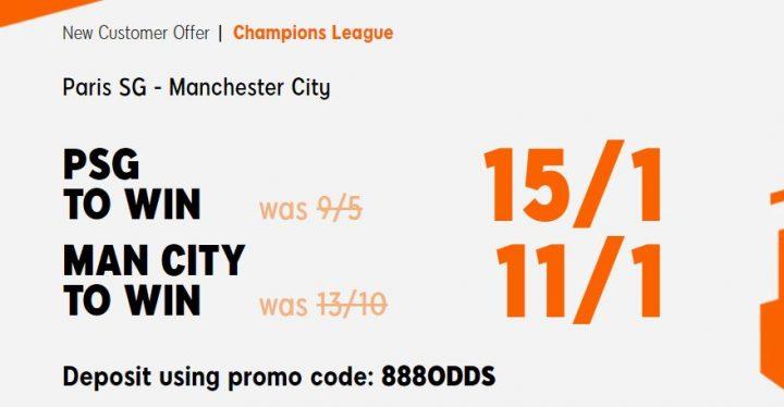 PSG v Man City Champions League Betting