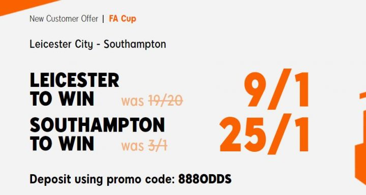 Leicester v Southampton FA Cup Betting