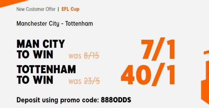 Man City v Spurs EFL Betting Offer