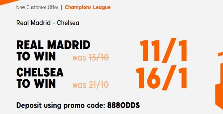 Real Madrid v Chelsea Champions League Betting