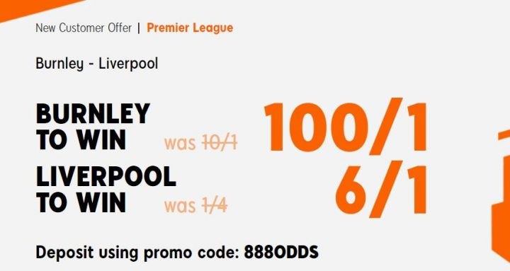 Burnley v Liverpool Premier League Betting