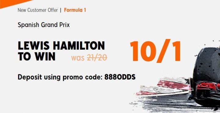 Lewis Hamilton Spanish Grand Prix F1 Betting