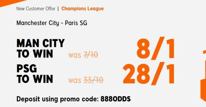 Man City v PSG Champions League Betting