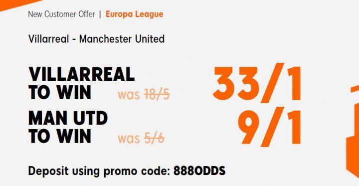 Villarreal v Man Utd Europa League Betting
