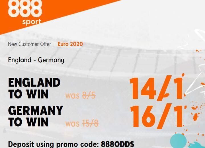 England v Germany Euros Betting Offer
