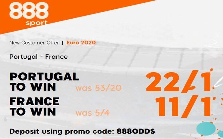 Portugal v France Euros Betting Offer