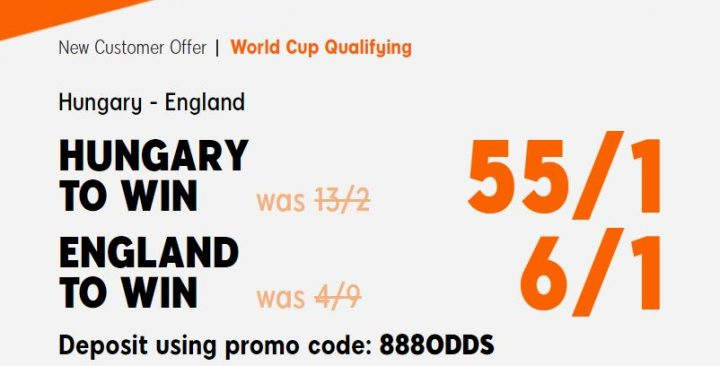 Hungary v England World Cup Qualifiers Betting