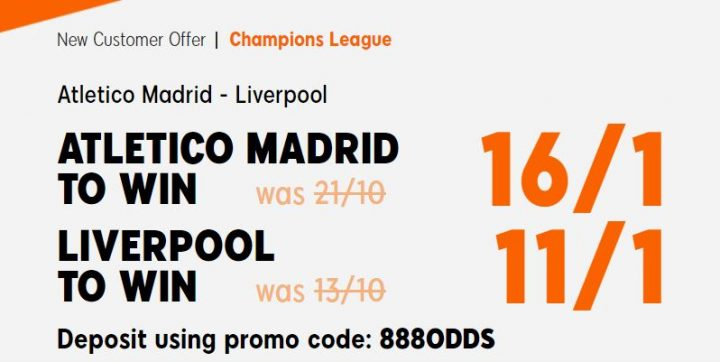 Atletico Madrid v Liverpool Champions League Betting