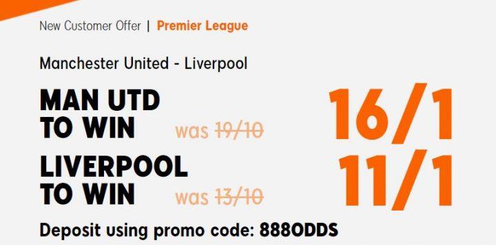 Man Utd v Liverpool Premier League Betting